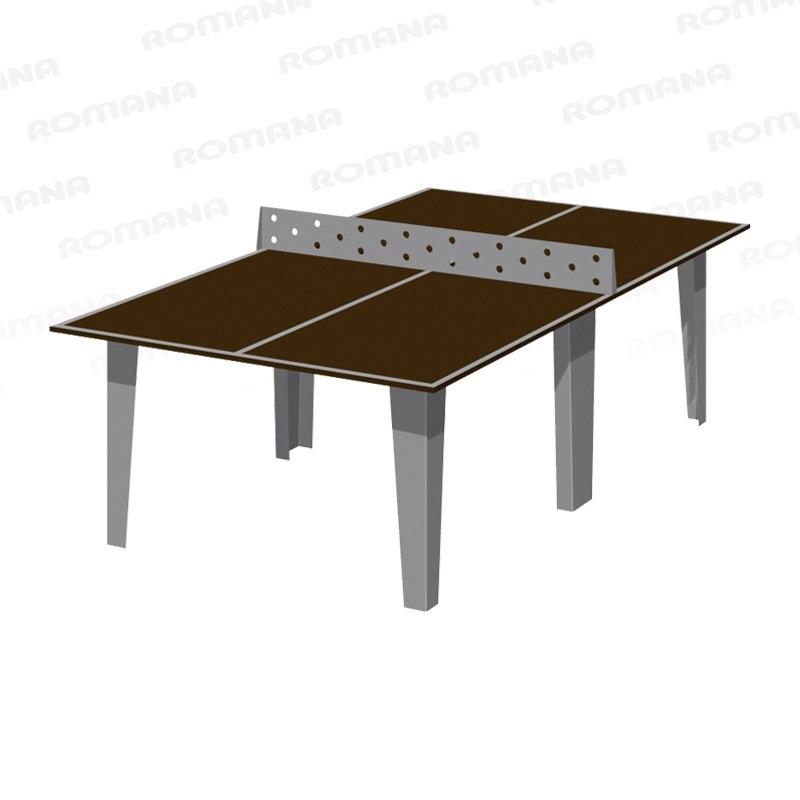 203.13.02-01 Стол теннисный (встроенная металлическая сетка) 2740х1525х912