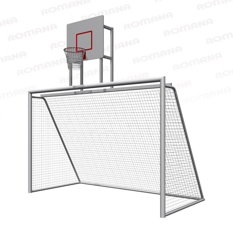 203.10.00 Ворота с баскетбольным щитом ( сетка в комплекте ) 3076х1770х3248